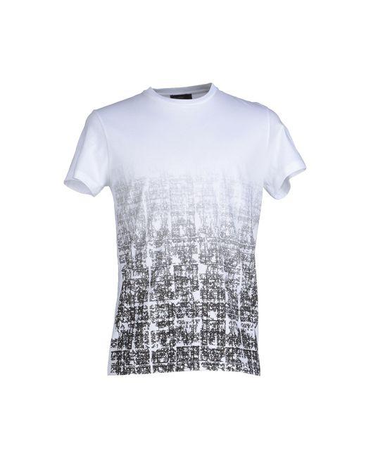 jil sander t shirt in gray for men white lyst