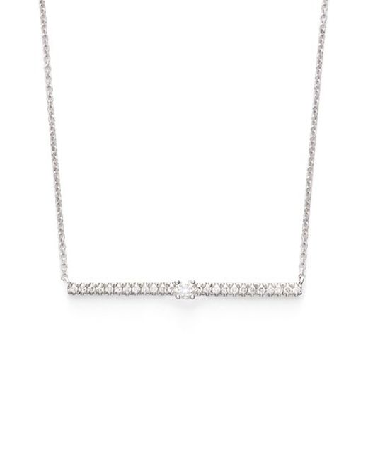 Bony Levy | Metallic Diamond Bar Pendant Necklace (limited Edition) (nordstrom Exclusive) | Lyst