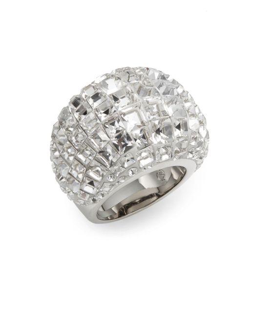 Swarovski   Metallic Trema Crystal Dome Ring   Lyst