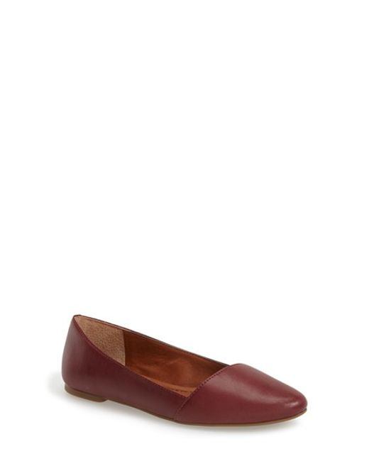 Lucky Brand | Red 'archh' Flat | Lyst