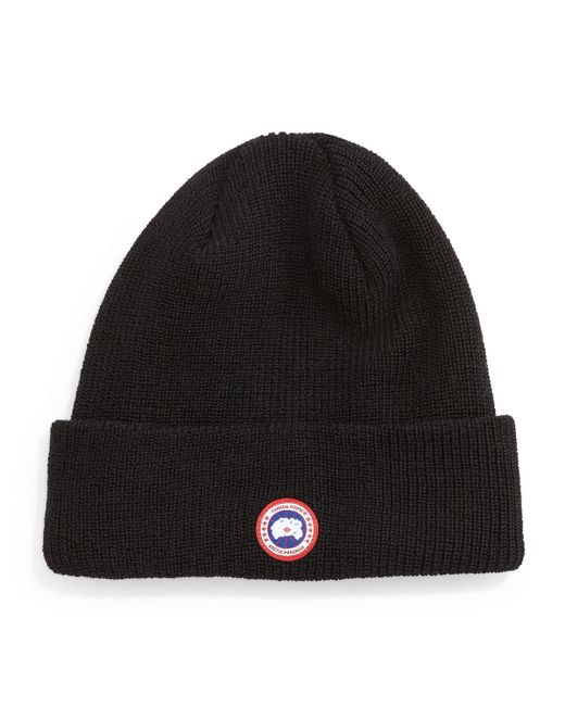 Canada Goose | Black Merino Wool Knit Cap for Men | Lyst