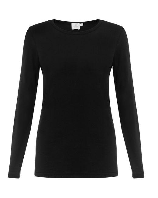 Sunspel | Black Women's Long-staple Cotton Long Sleeve T-shirt | Lyst