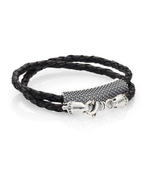 King Baby Studio | Metallic Beaded Double-wrap Leather Bracelet | Lyst