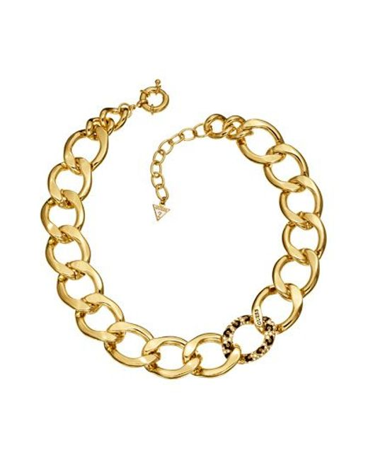 Guess | Metallic Gold Necklace | Lyst