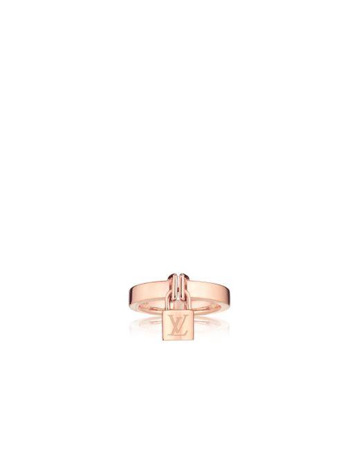 Louis Vuitton | Lockit Ring, Pink Gold | Lyst