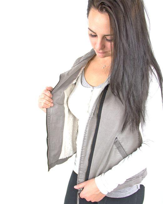 Marrakech | Gray Ricki Sleeveless Jacket | Lyst