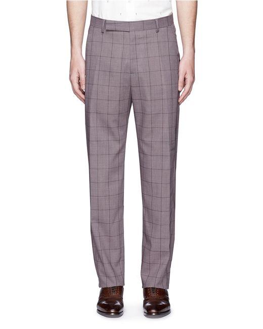 Paul Smith Windowpane Check Loro Piana® Wool Travel Pants