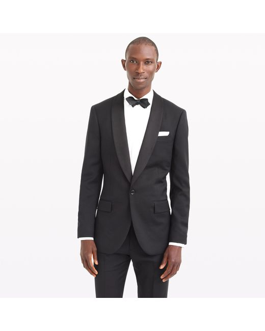 J.Crew | Black Ludlow Shawl-collar Tuxedo Jacket In Italian Wool for Men | Lyst