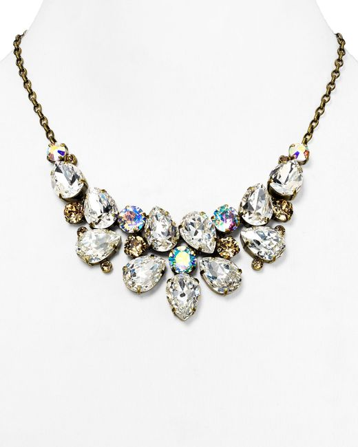 Sorrelli | Metallic Pear Cluster Bib Necklace, 17"