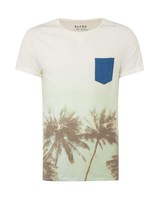 Blend   White Plain Crew Neck Regular Fit T-shirt for Men   Lyst