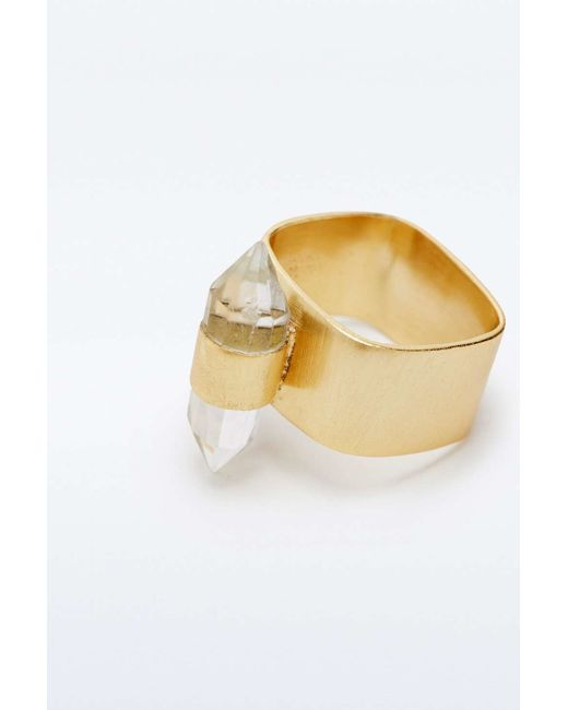 Urban Outfitters | Metallic Kate Hewko Aly Clear Quartz Ring | Lyst