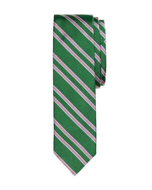 Brooks Brothers   Green Twin Stripe Slim Tie for Men   Lyst