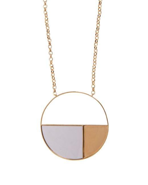 Aurelie Bidermann | Metallic Bianca Mirrored Yellow Gold-plated Long Necklace | Lyst
