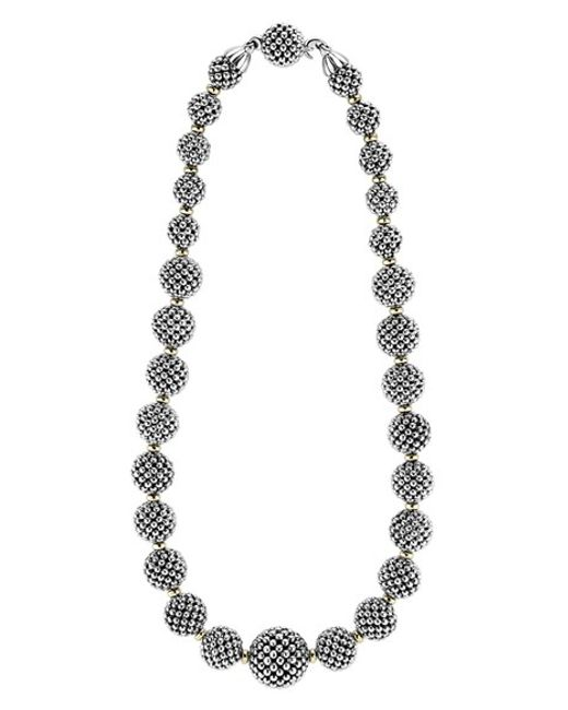 Lagos | Metallic 'caviar Forever' Lattice Ball Necklace | Lyst