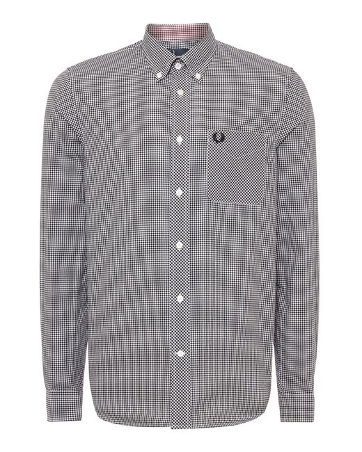 Stussy | Shirt In Slim Fit Gingham In Black for Men | Lyst