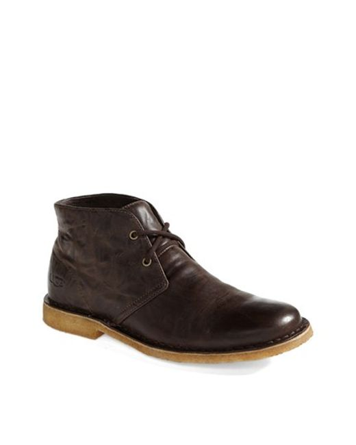 Ugg | Brown Ugg Leighton Chukka Boot for Men | Lyst