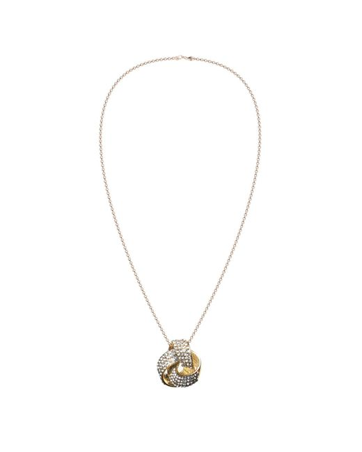 Mikey | Metallic Round Bow Necklace | Lyst
