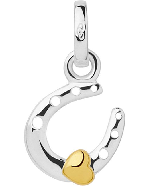 Links of London   Metallic Horseshoe And Heart Sterling-silver Mini Charm   Lyst