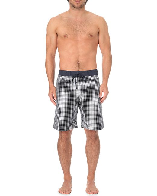 Hanro | Black Geometric-print Cotton Shorts for Men | Lyst