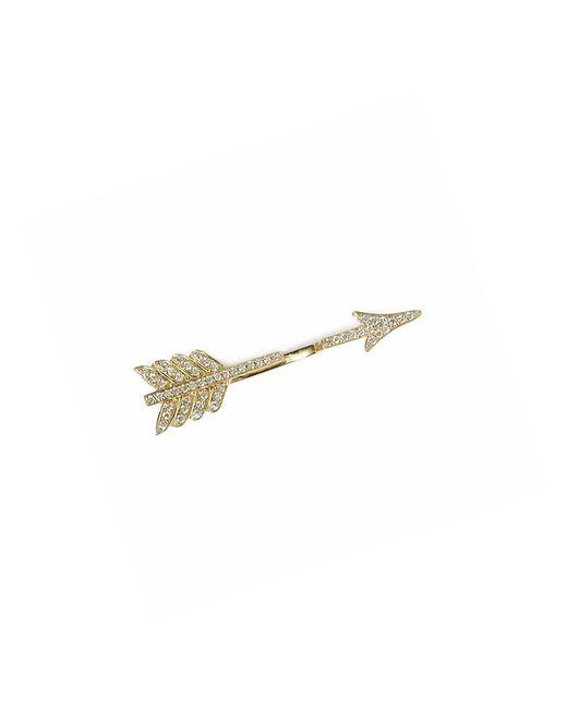 Anita Ko | Metallic Single Arrow 18-KT Gold Earrings | Lyst
