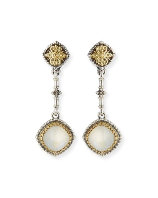 Konstantino   White Erato Labradorite Doublet Dangle Earrings   Lyst