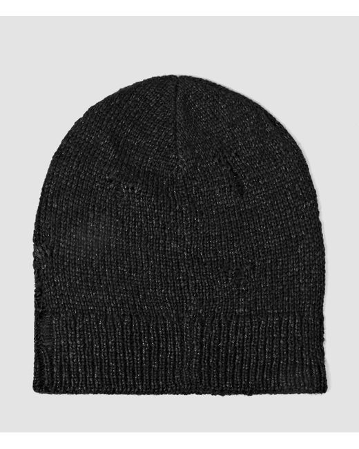 AllSaints   Black Ektarr Beanie Hat Usa Usa for Men   Lyst