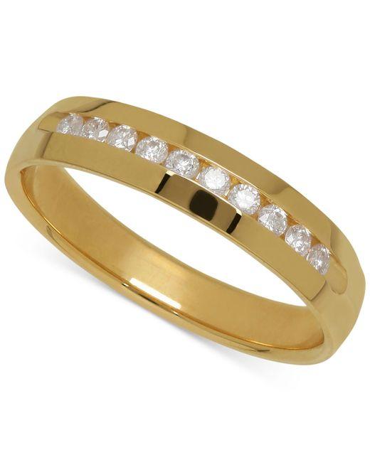 Macy's | Metallic Men's Diamond Band In 14k Yellow Gold (1/4 Ct. T.w.) for Men | Lyst