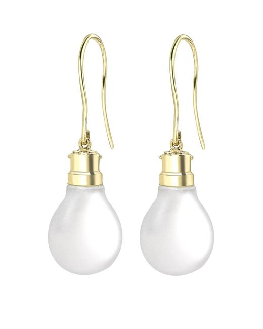 Theo Fennell | Metallic Light Bulb Drop Earrings | Lyst
