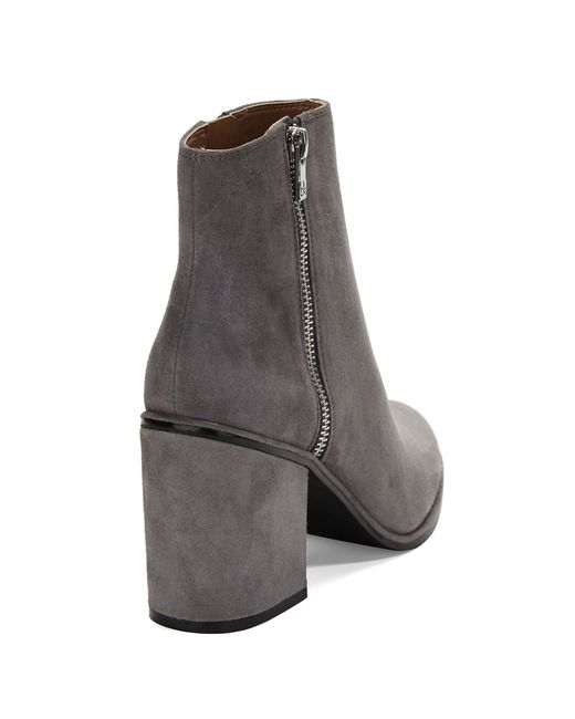 calvin klein cilil suede ankle boots in gray grey save