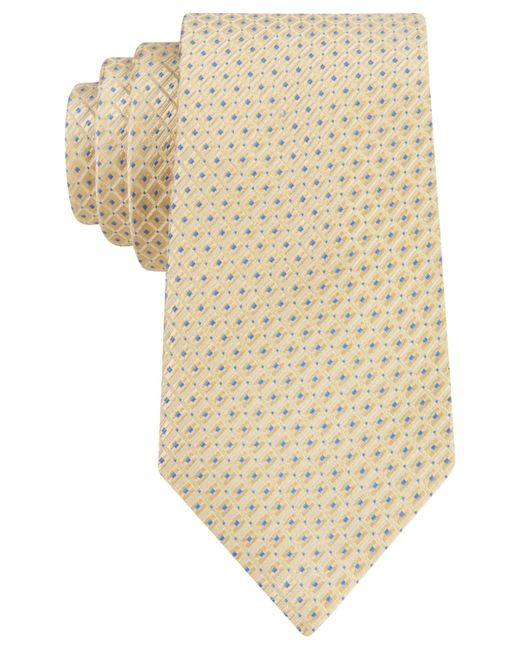 Michael Kors | Yellow Michael Metropolitan Neat Tie for Men | Lyst