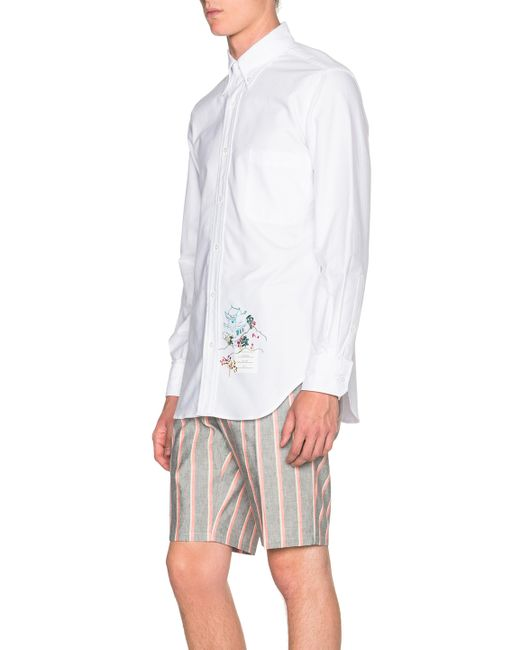 Thom browne classic button down shirt with palace for Thom browne white shirt