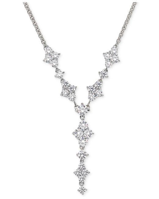 Arabella | Metallic Swarovski Zirconia Y-necklace In Sterling Silver | Lyst