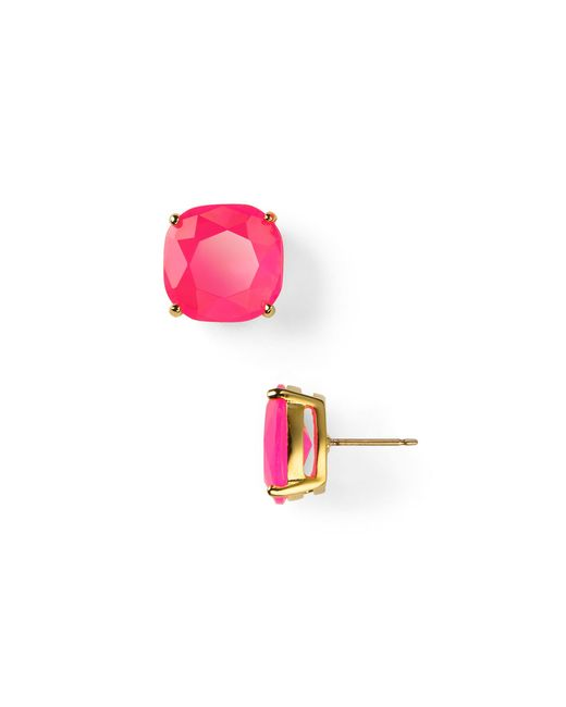 kate spade new york | Purple Small Square Stud Earrings | Lyst