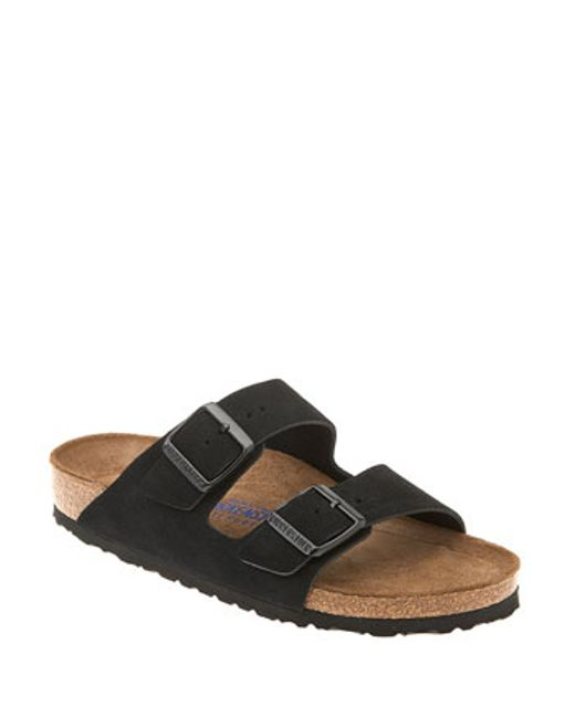 Birkenstock | Black 'arizona' Soft Footbed Suede Sandal | Lyst
