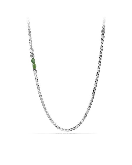 David Yurman | Metallic Necklace With Jade for Men | Lyst
