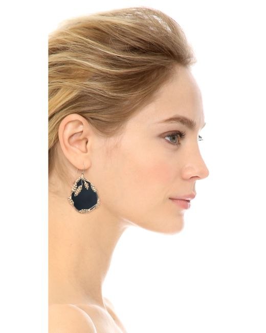 Aurelie Bidermann | Black Francoise Onyx Drop Earrings | Lyst