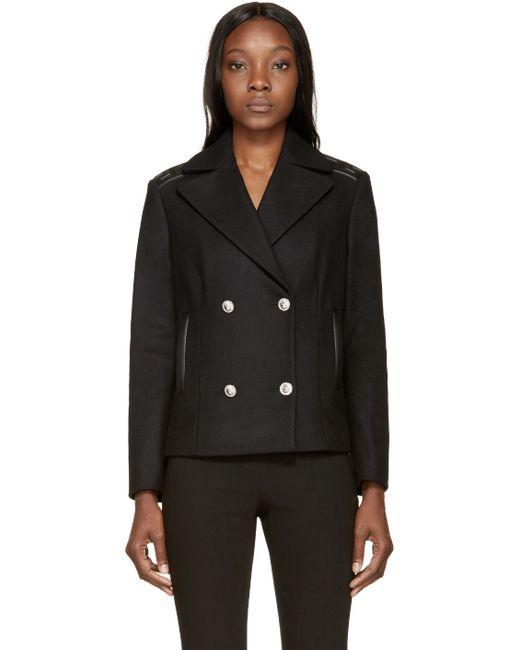 Versus | Black Wool Greek Key Jacket | Lyst