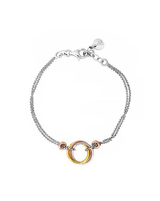 Azendi | Metallic Sterling Silver 3 Colour Love-knot Bracelet | Lyst