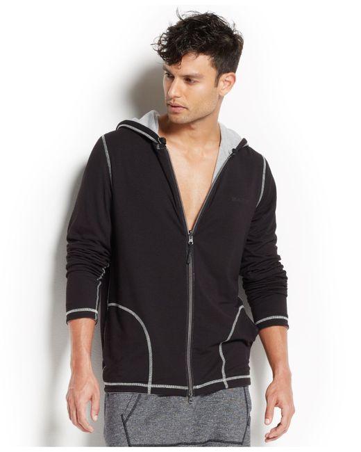 2xist | Black 2(x)ist Men's Loungewear, Two-tone Full-zip Hoodie for Men | Lyst