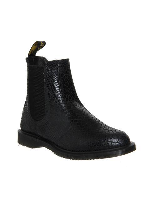 dr martens kensington flora boots in black lyst. Black Bedroom Furniture Sets. Home Design Ideas