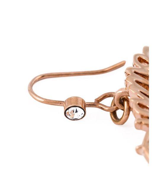 Mawi | Pink 'diamond Slogan' Heart Earrings | Lyst
