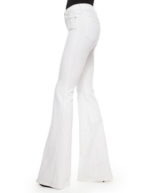 FRAME | White Forever Karlie Flared Denim Jeans | Lyst
