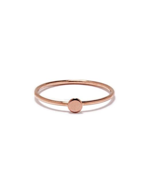 Bing Bang | Pink Tiny Circle Ring | Lyst