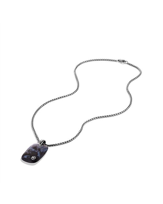 David Yurman | Black Exotic Stone Tablet with Pietersite On Chain for Men | Lyst