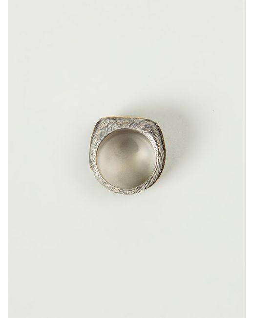 Tobias Wistisen | Metallic Bronze Square Ring for Men | Lyst
