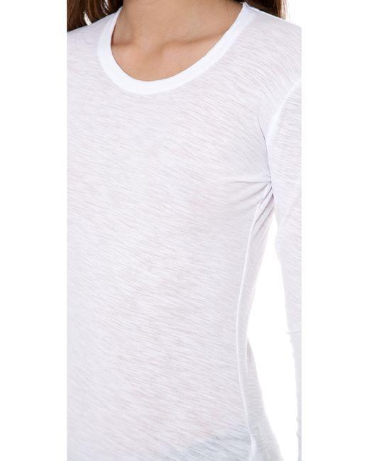James Perse | White Long Sleeve Slub Crew Tee | Lyst