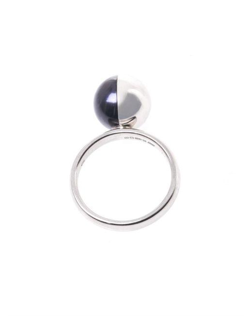 Melanie Georgacopoulos | Metallic Peacock Pearl & White-Gold Tasaki Ring | Lyst
