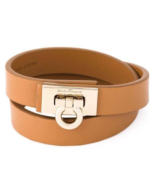 Ferragamo | Metallic Gancio Wrap Around Bracelet | Lyst
