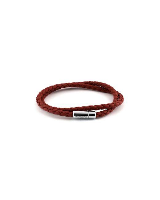 Tateossian | Red Scoubidou Bracelet for Men | Lyst