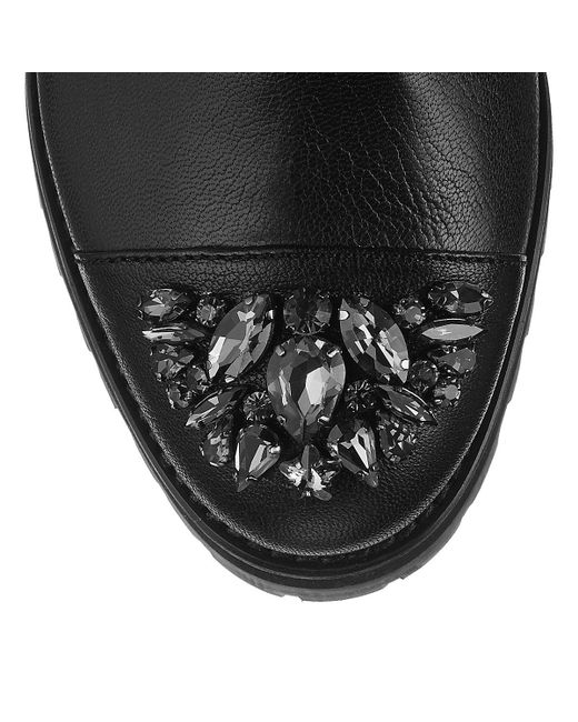 Jimmy Choo   Black Datchet Leather Boots   Lyst
